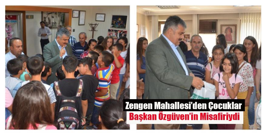 Zengen Mahallesi'den Çocuklar Başkan Özgüven'in Misafiriydi
