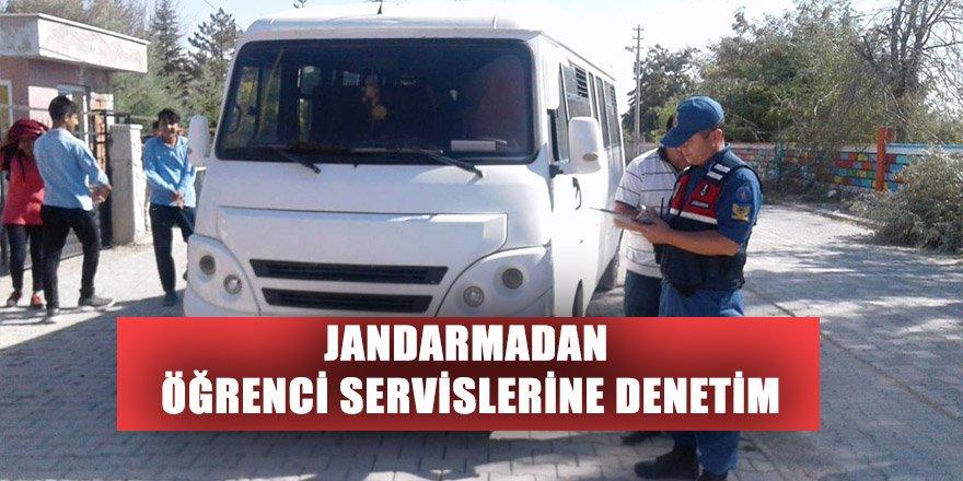 JANDARMADAN ÖĞRENCİ SERVİSLERİNE DENETİM