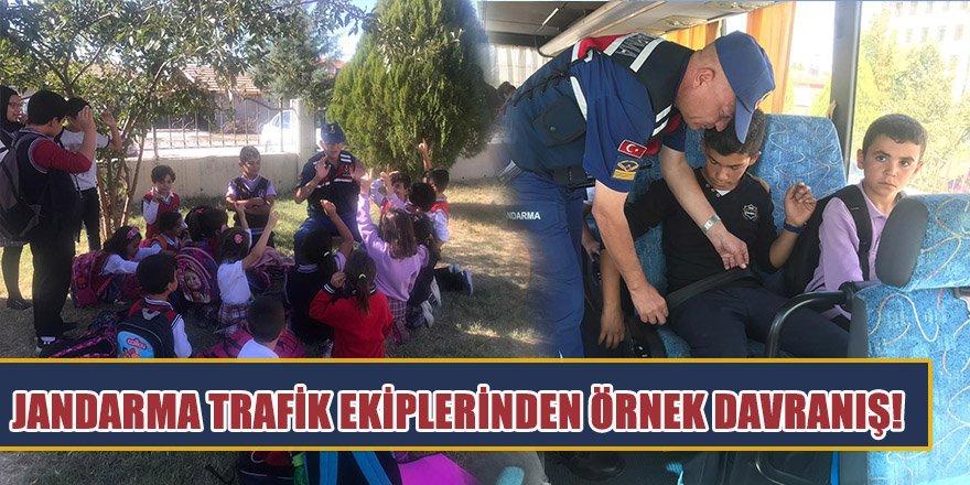 Jandarma Trafik Ekiplerinden Örnek Davranış!