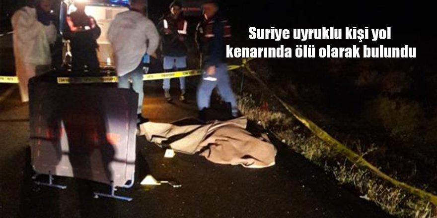 Suriye uyruklu kişi yol kenarında ölü olarak bulundu