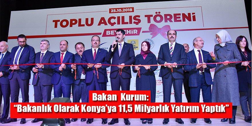 """Bakan Murat Kurum: """"Bakanlık Olarak Konya'ya 11,5 Milyarlık Yatırım Yaptık"""""""