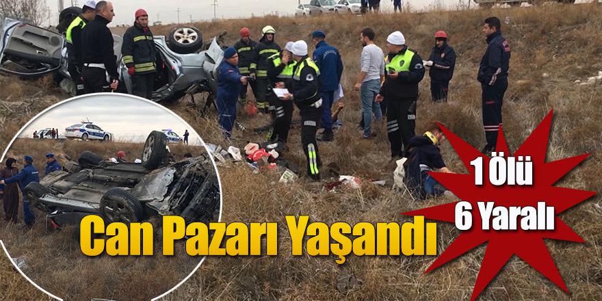 Can Pazarının yaşandığı kazada 1 kişi Öldü, 6 Yaralı
