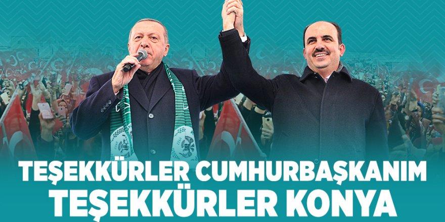 Başkan Altay'dan Cumhurbaşkanı Erdoğan'a Teşekkür.