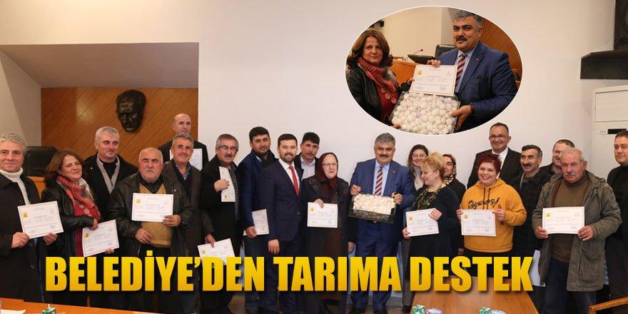 BELEDİYE'DEN TARIMA DESTEK.
