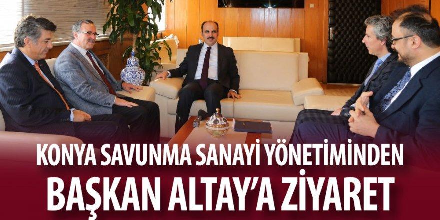 Konya Savunma Sanayi Yönetiminden Başkan Altay'a Ziyaret.