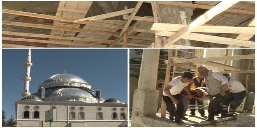 Cami İnşaatındaki İskele Kırıldı: 1 İşçi Yaralandı
