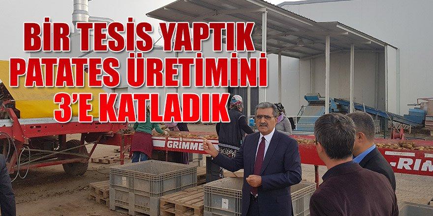 KONYA ŞEKER BİR TESİS YAPTI KONYA'DA PATATES ÜRETİMİ 3'E KATLANDI.