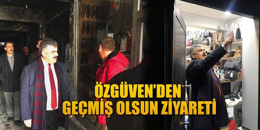 BAŞKAN ÖZGÜVEN'DEN GEÇMİŞ OLSUN ZİYARETİ.
