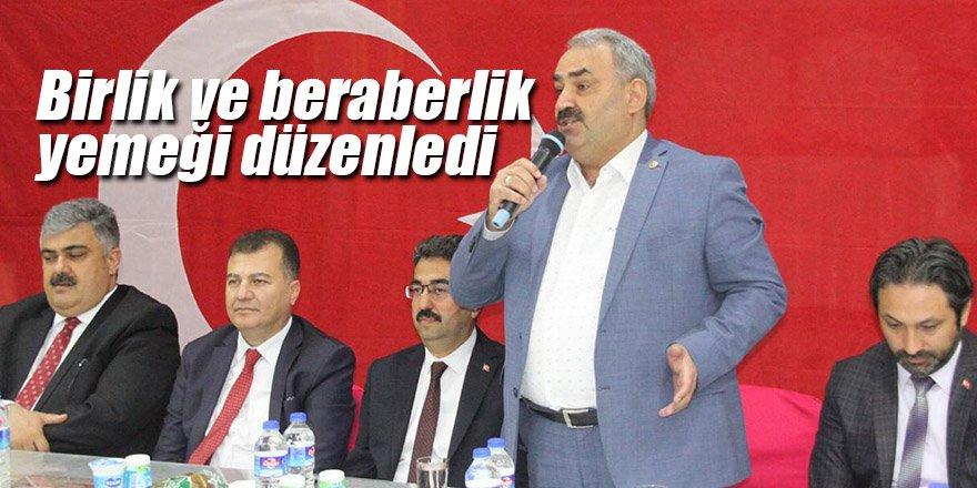 AK Parti İlçe Teşkilatı birlik ve beraberlik yemeği düzenledi