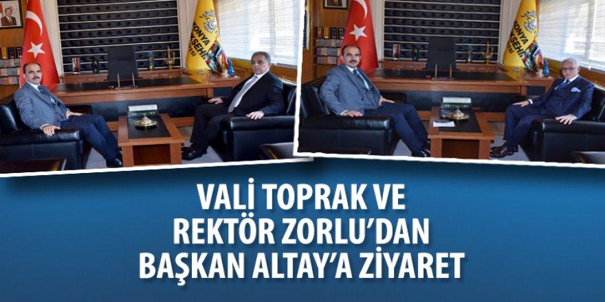 Vali Toprak ve Rektör Zorlu'dan Başkan Altay'a Ziyaret