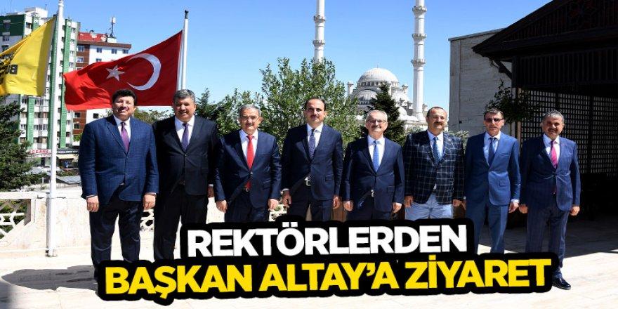 Rektörlerden Başkan Altay'a Ziyaret