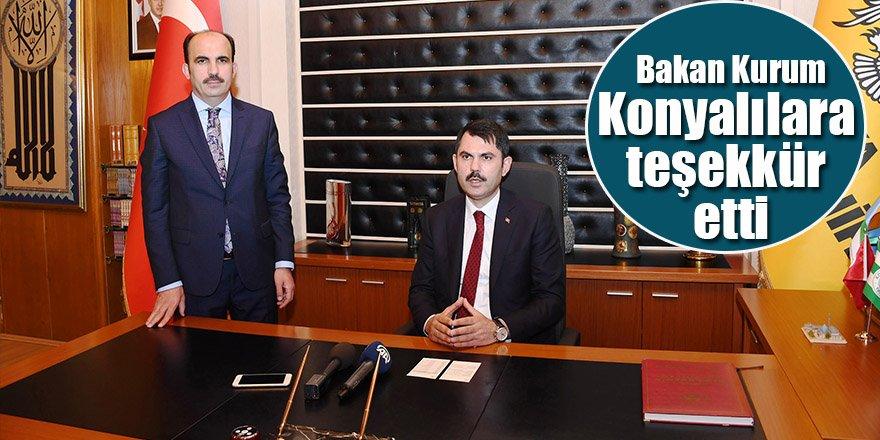 Bakan Kurum: Konya'nın Yaşam Kalitesini Birlikte Yükselteceğiz