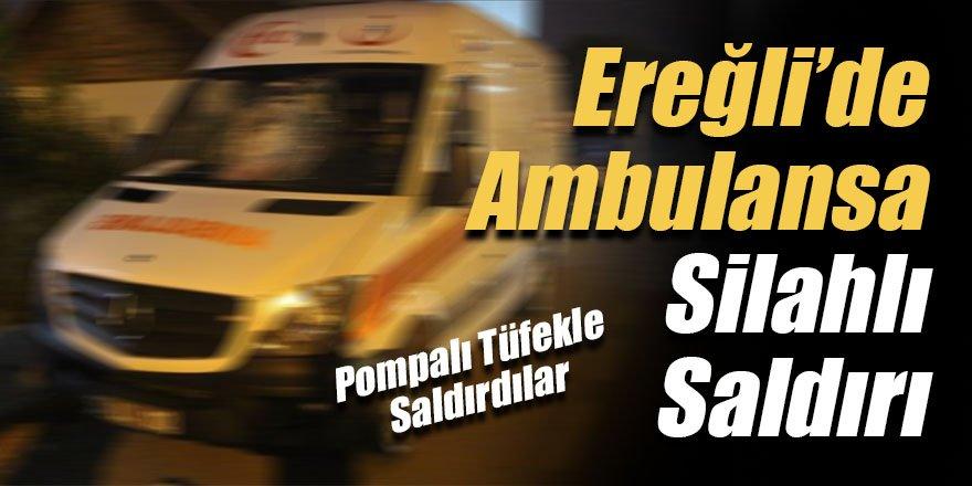 Suriyeli 3 kişi, kaçmak için durdurmak istedikleri ambulansa silahla saldırdı