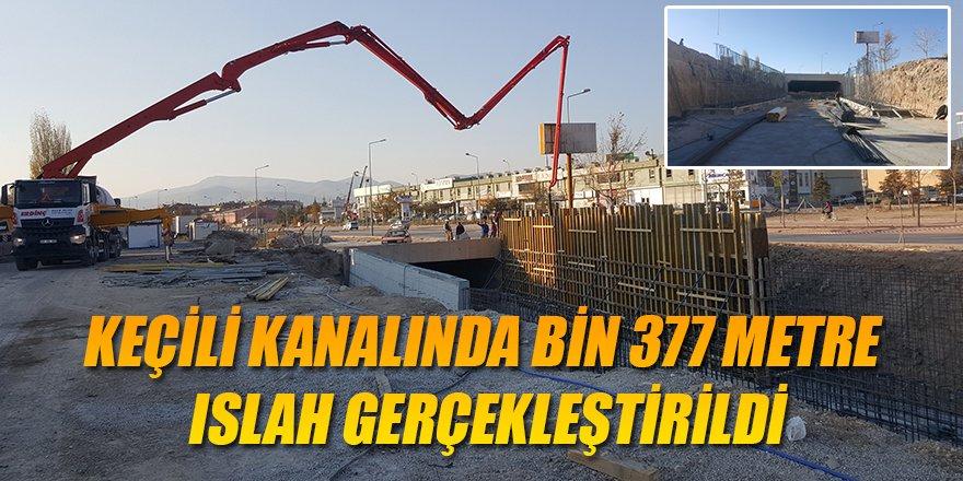 KEÇİLİ KANALINDA BİN 377 METRE ISLAH GERÇEKLEŞTİRİLDİ