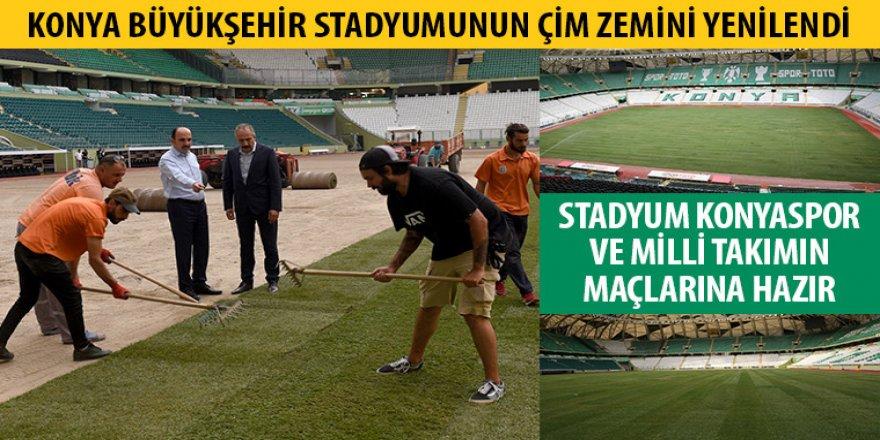 Büyükşehir Stadyumunun Çim Zemini Yenilendi