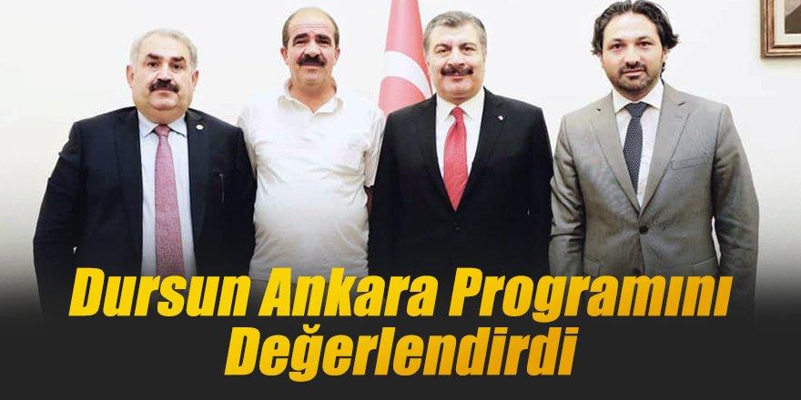 Dursun Ankara Programını Değerlendirdi