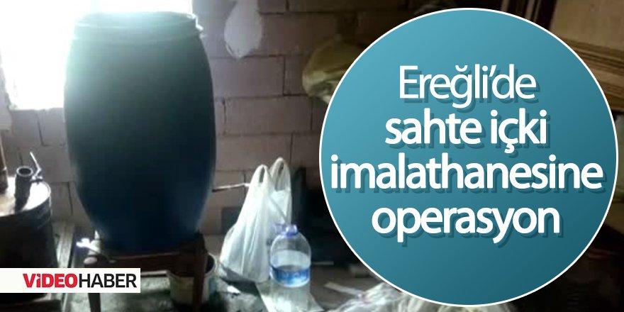 Ereğli'de sahte içki imalathanesi
