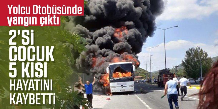 Yolcu otobüsü küle döndü: 5 ölü, 15 yaralı
