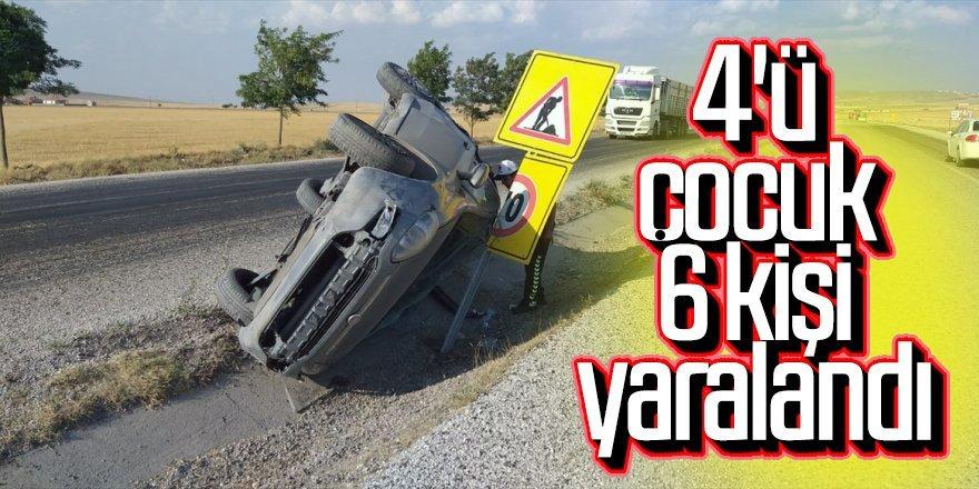 Otomobil takla attı : 6 yaralı