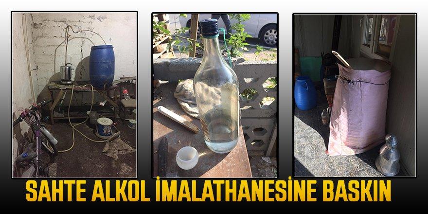 Sahte Alkol İmalathanesine Baskın