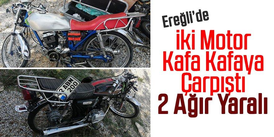 Motosikletler çarpıştı: 2 ağır yaralı