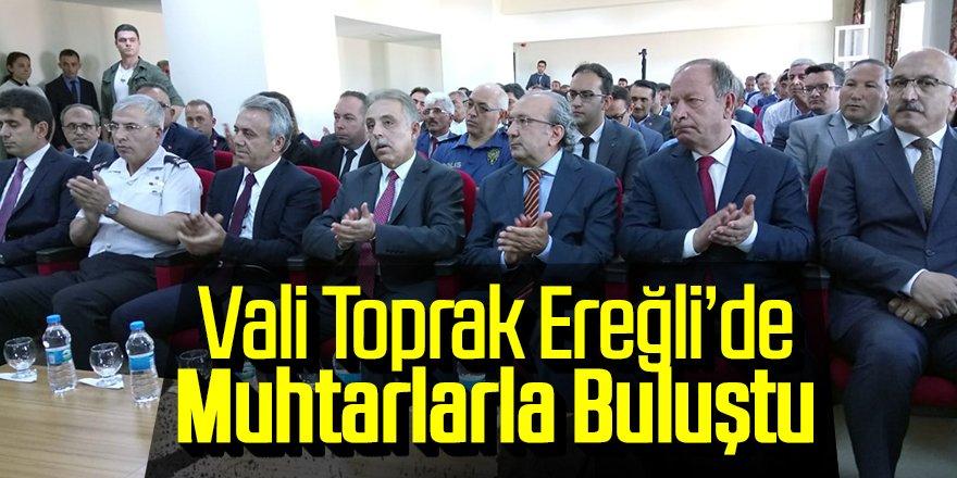 Konya Valisi Toprak Ereğli'de Muhtarlarla Buluştu