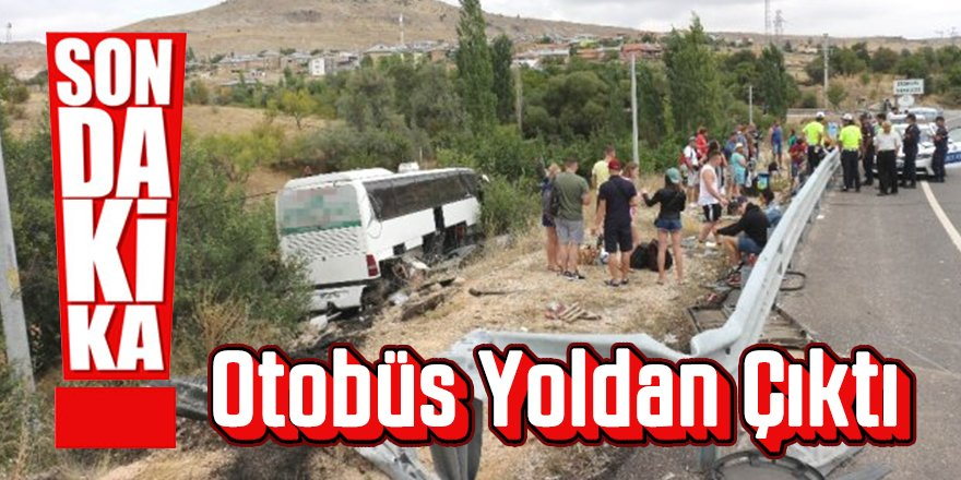 Tur otobüsü yoldan çıktı: 3 yaralı