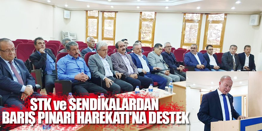 STK ve Sendikalardan Barış Pınarı Harekatı'na Destek