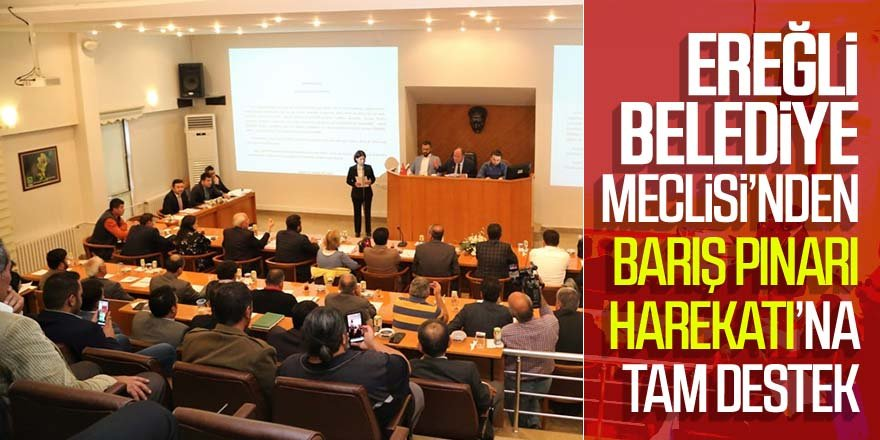 EREĞLİ BELEDİYE MECLİSİ'NDEN BARIŞ PINARI HAREKATI'NA TAM DESTEK
