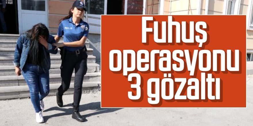 Masaj salonuna fuhuş operasyonu: 3 gözaltı