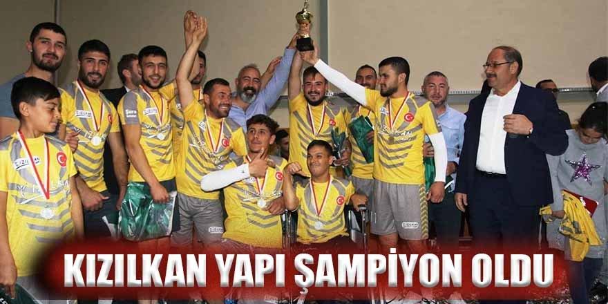 Kızılkan Yapı Şampiyon oldu.
