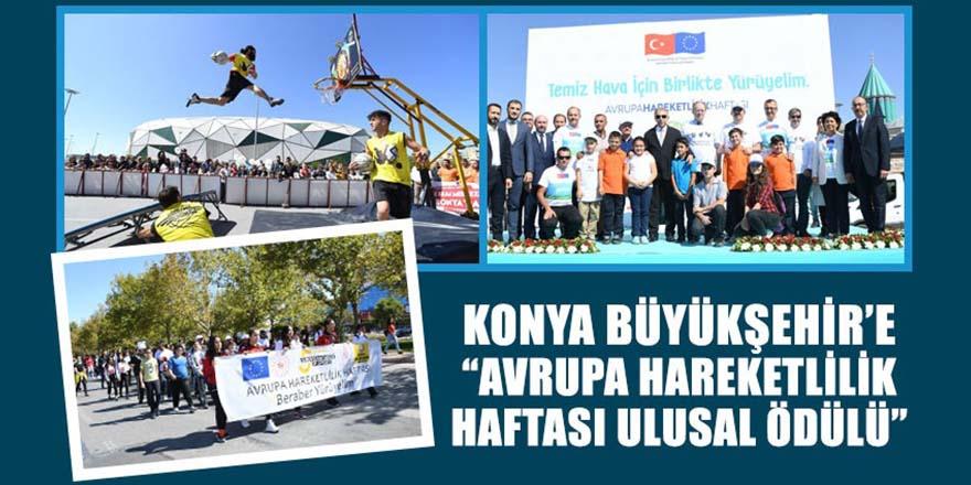 """Büyükşehir'e """"Avrupa Hareketlilik Haftası Ulusal Ödülü"""