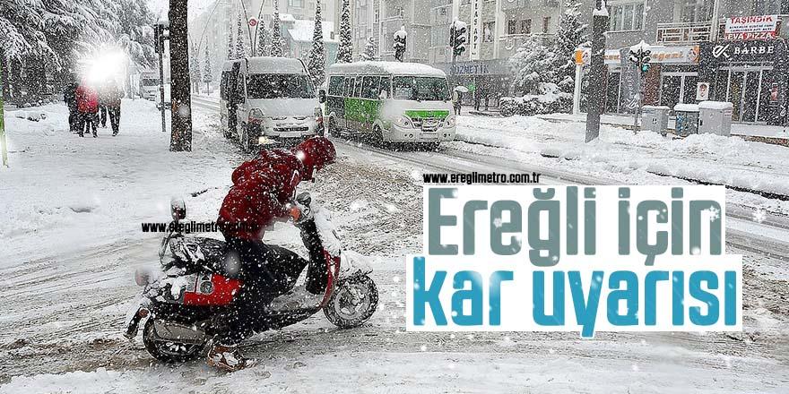 Ereğli'ye Kar geliyor!