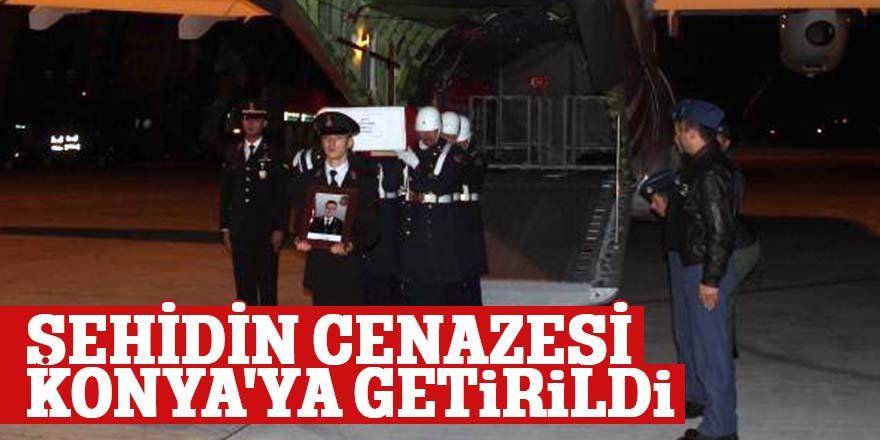 ŞEHİDİN CENAZESİ KONYA'YA GETİRİLDİ