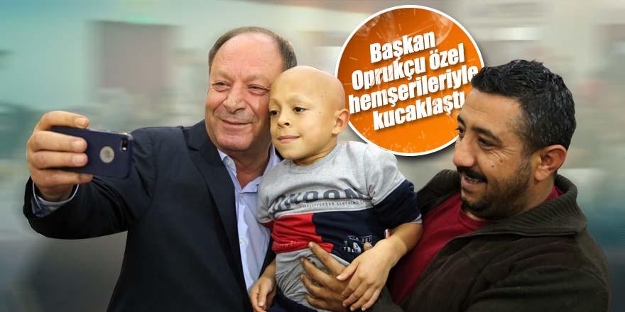 Başkan Oprukçu özel hemşerileriyle kucaklaştı