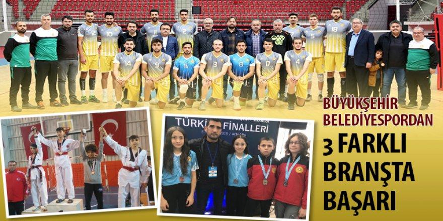 Büyükşehir Belediyespordan 3 Farklı Branşta Başarı