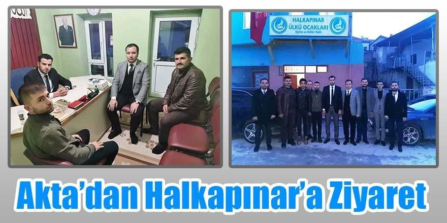 Ülkü Ocakları İl Başkanı Akta'dan Halkapınar Ülkü Ocağına Ziyaret