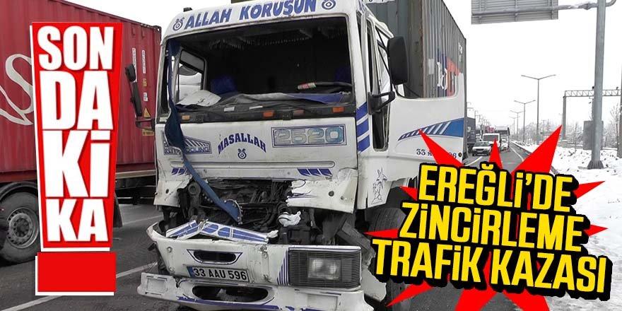 Ereğli'de Zincirleme Trafik Kazası