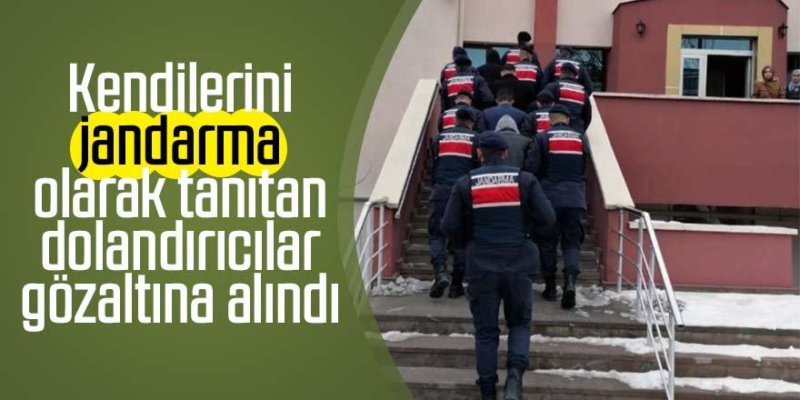 Kendilerini jandarma olarak tanıtan dolandırıcılar gözaltına alındı