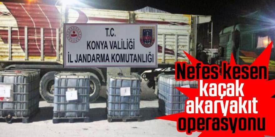 Jandarma'dan kaçak akaryakıt operasyonu