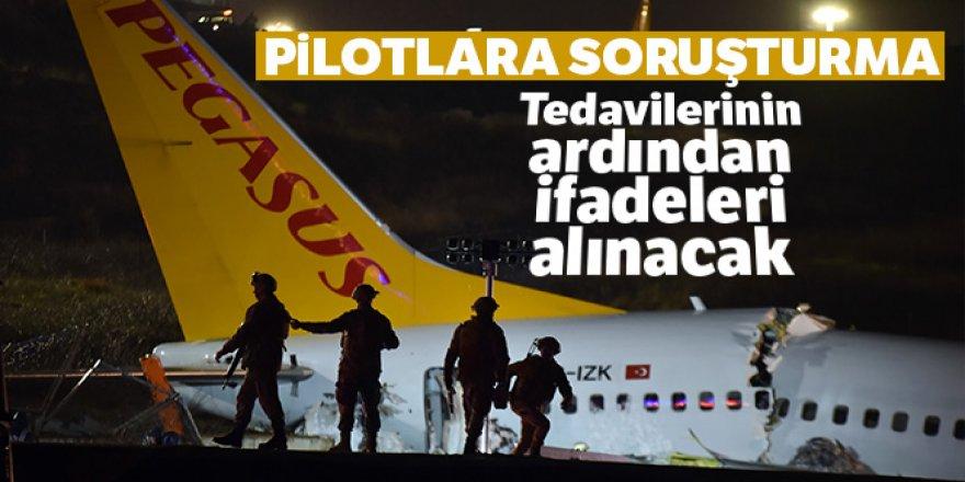 Uçak kazasında iki pilota soruşturma