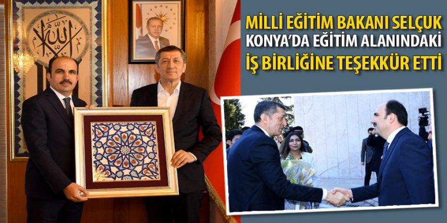 Bakan Selçuk Konya'da Eğitim Alanındaki İş Birliğine Teşekkür Etti