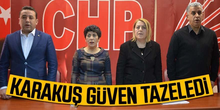 CHP'de İsminaz Karakuş güven tazeledi