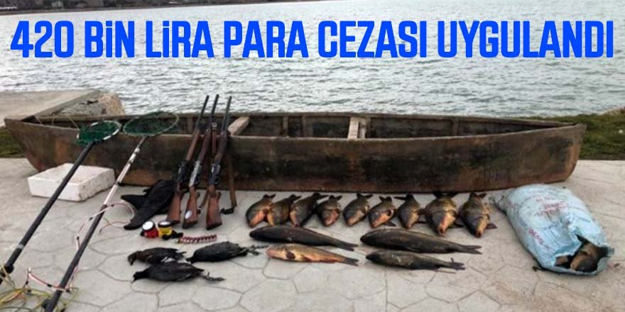 Elektroşokla balık avına 420 bin lira ceza
