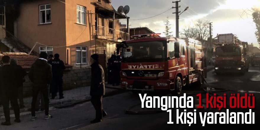 Evde yangın çıktı: 1 ölü, 1 yaralı