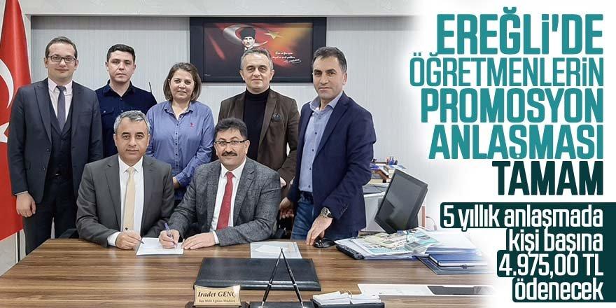 Ereğli'de Öğretmenlerin promosyon anlaşması tamam
