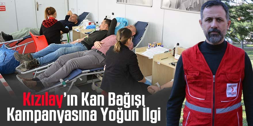 Ereğli'de Kızılay'ın Kan Bağışı Kampanyasına Yoğun İlgi