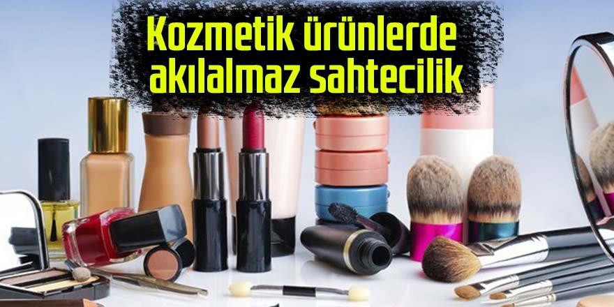 Kozmetik ürünlerde akılalmaz sahtecilik