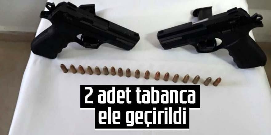 Asayiş uygulamasında 2 adet tabanca ele geçirildi