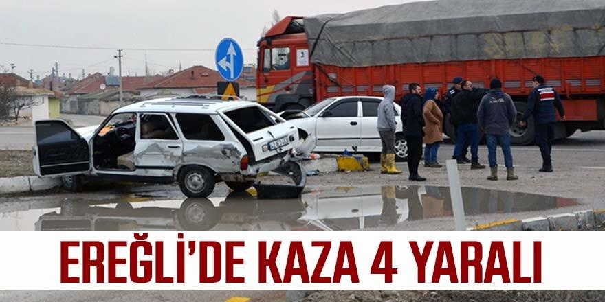 Ereğli'de trafik kazası: 4 yaralı